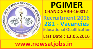 pgimer+recruitment+2016+educational+qualification