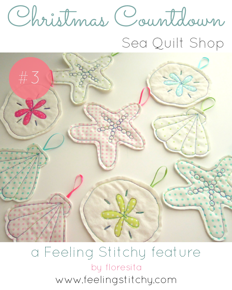 Christmas Countdown 3 - Sea Quilt Shop, featured by floresita on Feeling Stitchy