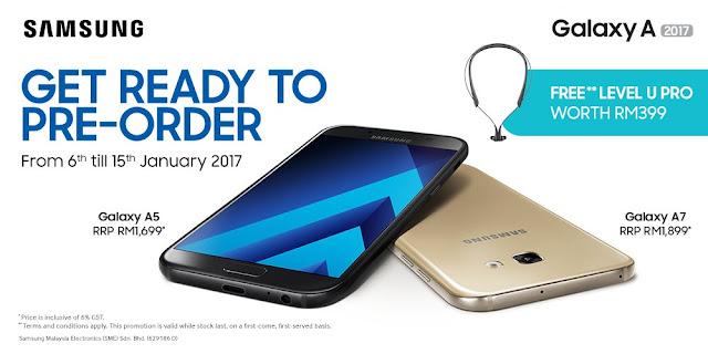 Percuma Samsung Level U Pro Bagi Tempahan Awal Galaxy A 2017