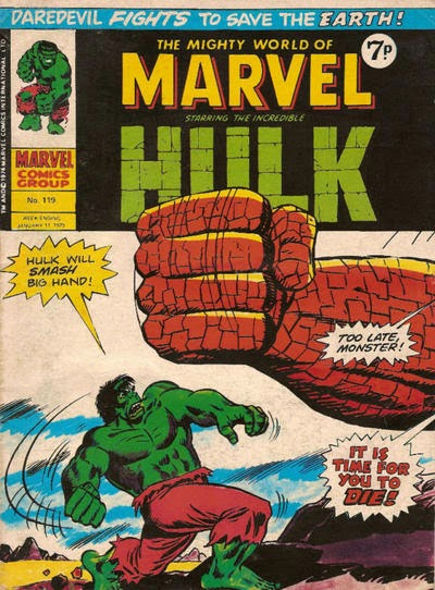 Mighty World of Marvel #119, The Hulk vs the Colossus