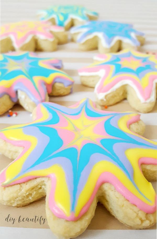 create these scrumptious tie dye sugar cookies
