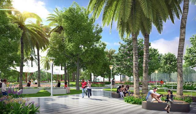 Không gian xanh dự án Sunshine Wonderland Villa