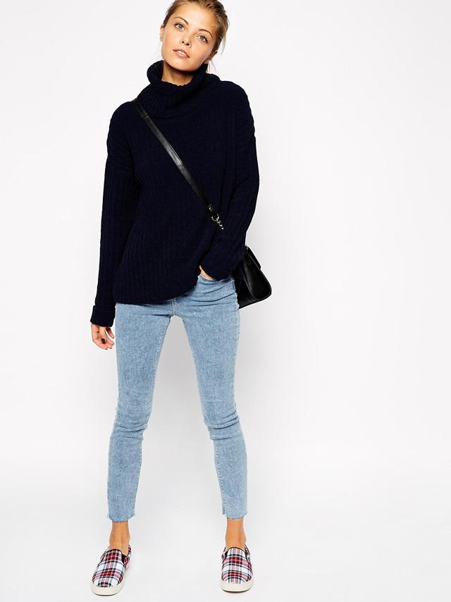 fall winter trendy styles - oversized polo neck jumper