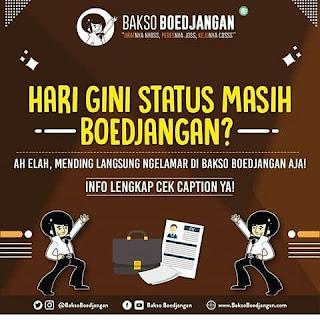 Karir Lowongan Kerja Bakso Boedjangan Bandung 2019 Terbaru Ada 5 Posisi