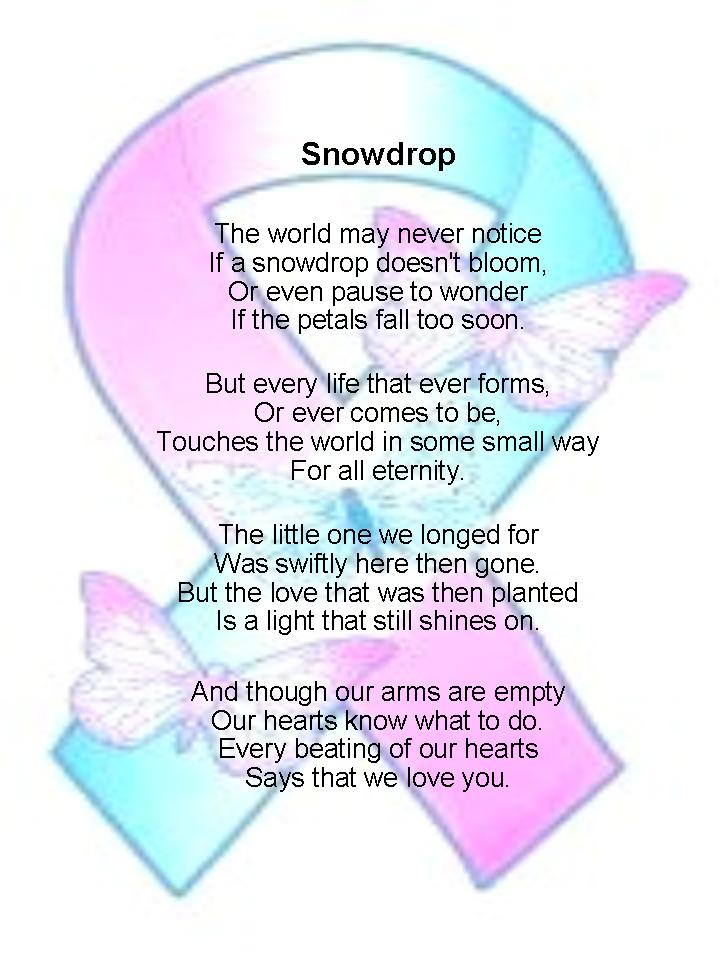 Llm Calling Poems For Babyloss Services Snowdrop