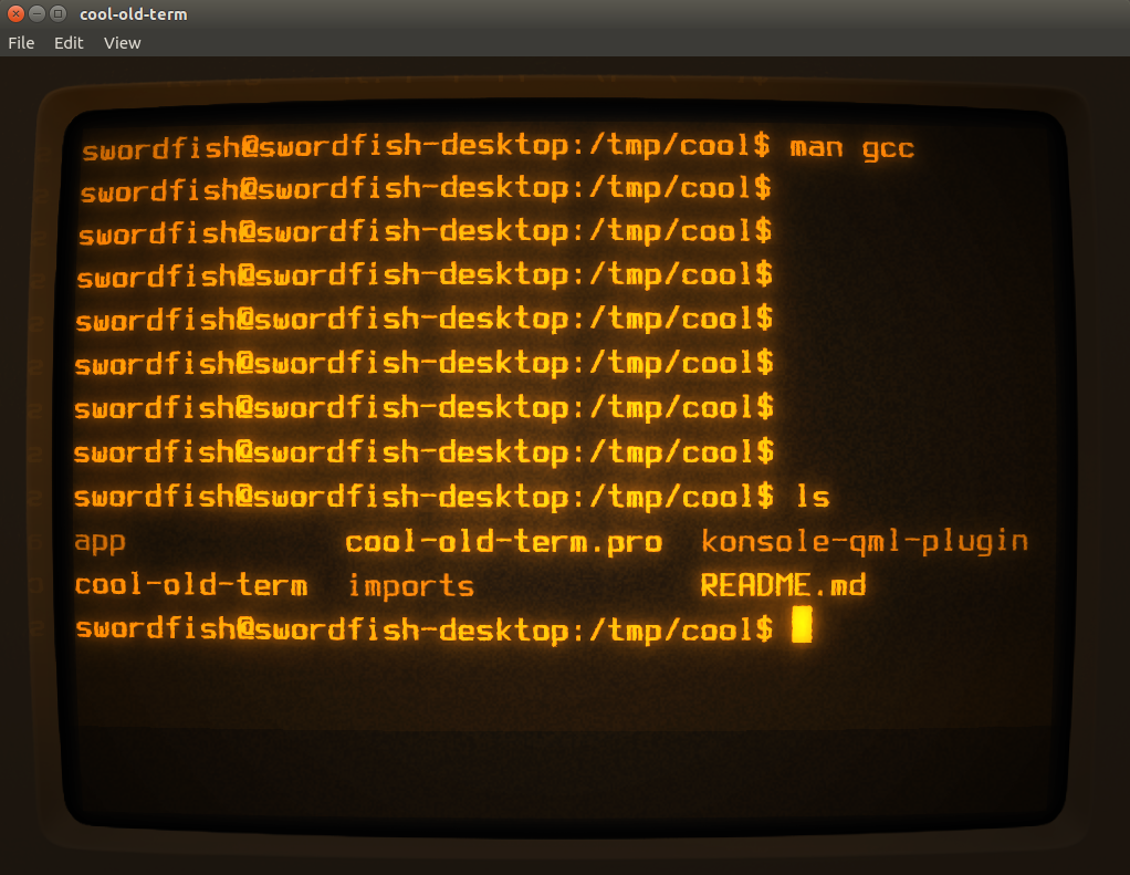 cool-old-term retro style terminal