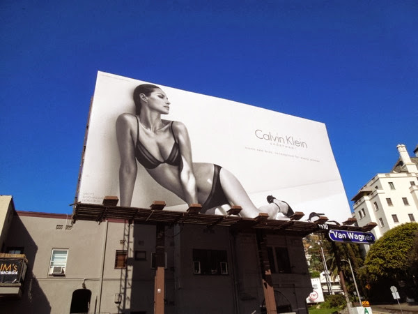 Christy Turlington Calvin Klein underwear model billboard