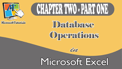 database and its operations and manipulations using any version of MS-Excel