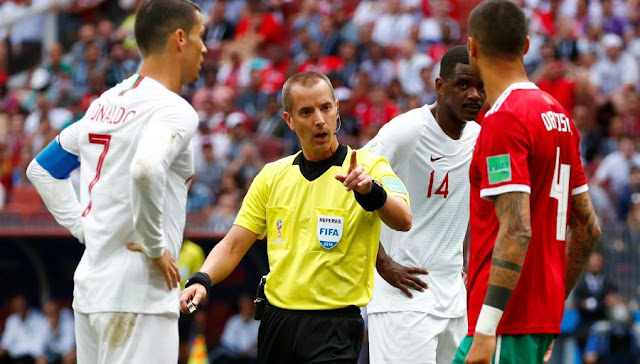 The referee of Portugal-Morocco asked Ronaldo's jersey?