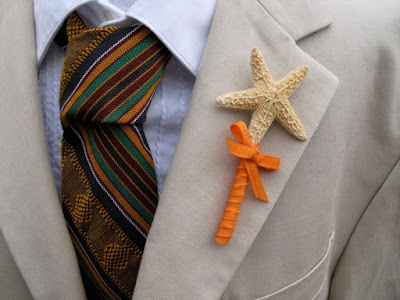 starfish boutonniere idea - wedding planning