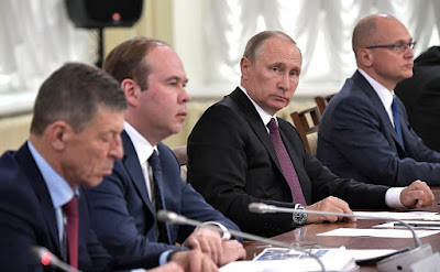 Vladimir Putin at a meeting of the Council for the Local Self-Government Development.
