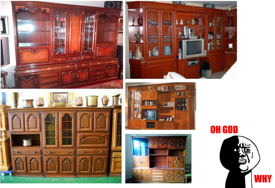 C mo decorar un mueble de sal n antiguo para que deje de for Como disenar un mueble de salon