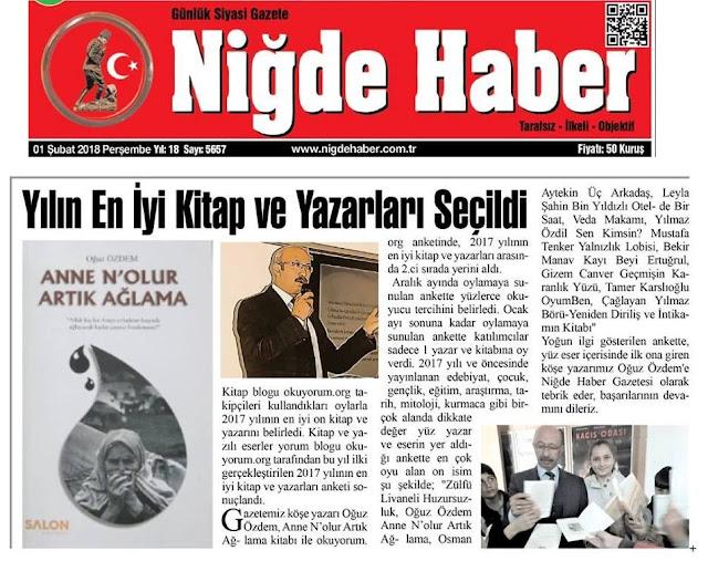 kitap blogu okuyorum.org niğde haber gazetesi