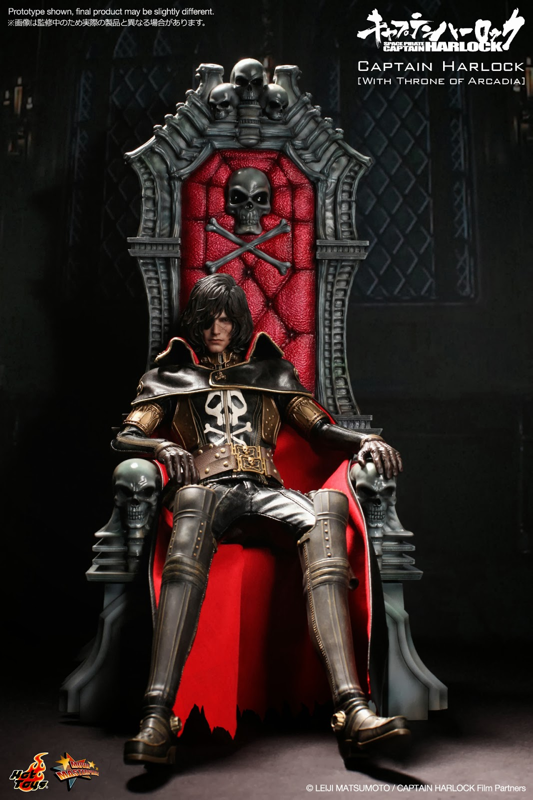 Animated Skull Wallpaper Super Punch Hot Toys Space Pirate Captain Harlock