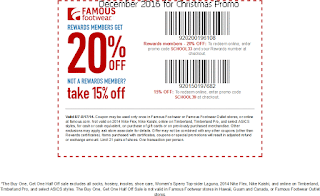 Famous Footwear coupons for december 2016