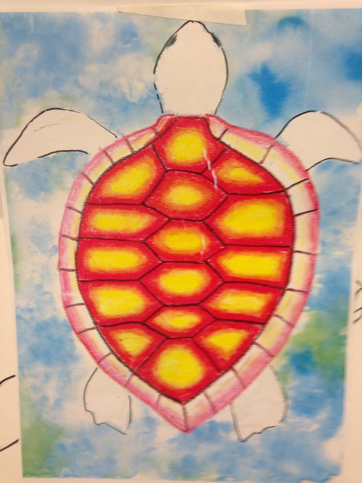 The Art Room Oil Pastel Sea Turtles Grades 1 5