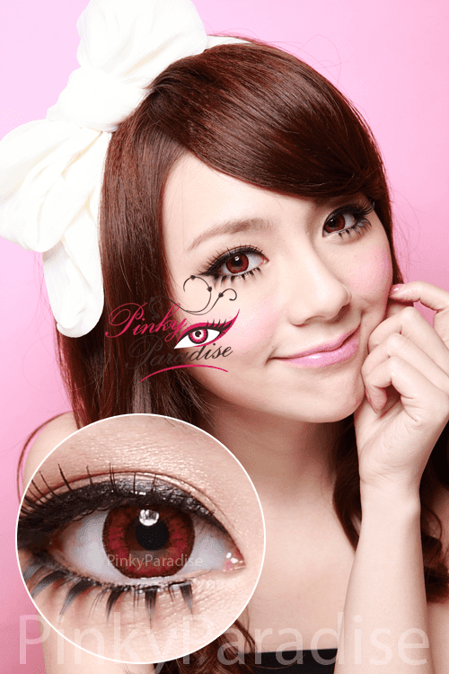 Venus Eye Wine Red Circle Lenses (Colored Contacts)