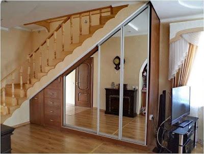 Ideas para ahorrar espacio debajo de la escalera ropero espejos