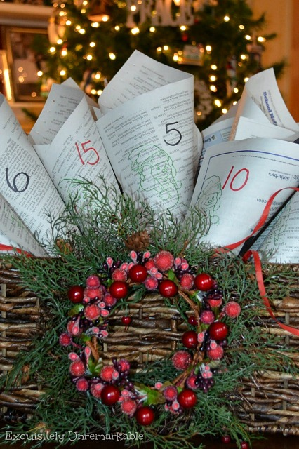 how to make an advent calendar from recycled newspaper