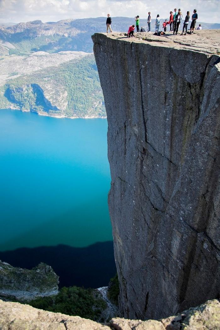 20 Spots In Europe You Must See Before You Die - Preikestolen, near Stavanger, Norway.