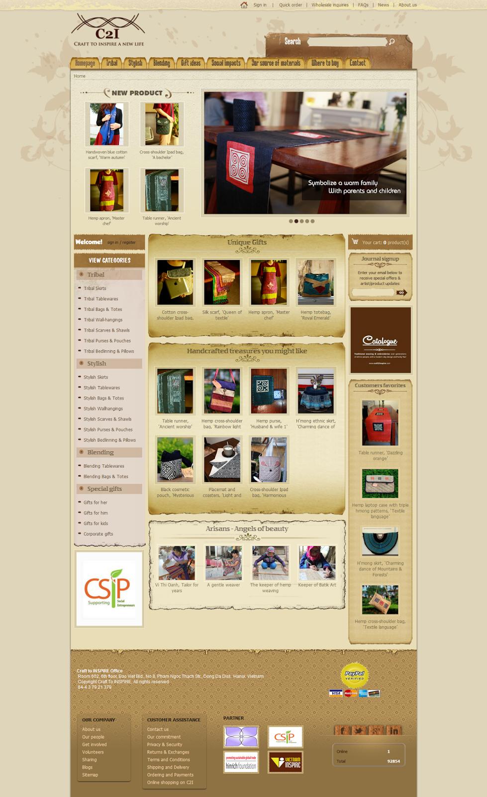 thiết kế web bán hàng thủ công mỹ nghệ đẹp