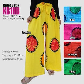 Celana kulot batik panjang motif pelangi cantik