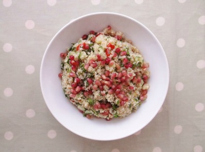 Pomegranate & Quinoa Tabbouleh, from Easy Peaasy Foodie