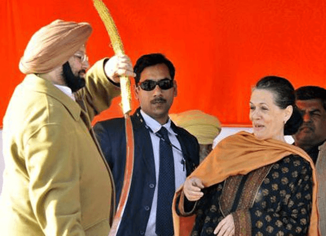 Punjab Cheif Minister Captain Amarinder Singh With Congress Chief Sonia Gandhi Photos Pics Image Wallpapers