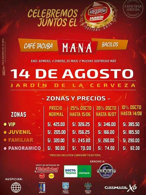 Maná en Arequipa 2018