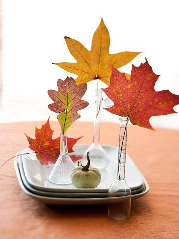 Decorar con hojas en otoño