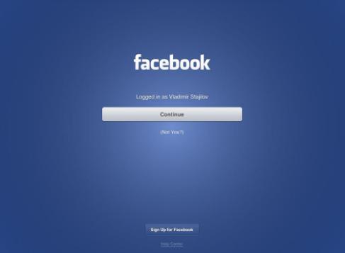 Login Facebook Page