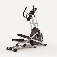 """Nautilus E614 Elliptical Trainer, with 20"""" precision path stride length, large articulating cushioned footplates, 20 ECB resistance levels, 22 programs, 6-position manual incline"""