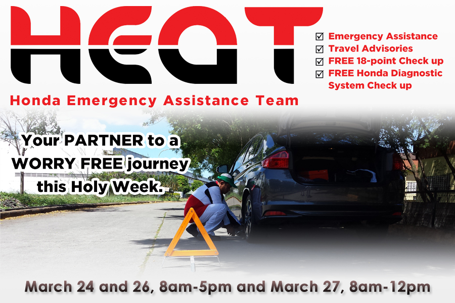Honda provides road assistance this Holy Week