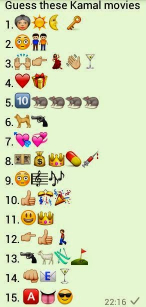 Guess these Kamal Movies Whatsapp Puzzles