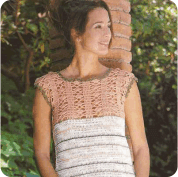 Top en Beige a Crochet o Ganchillo