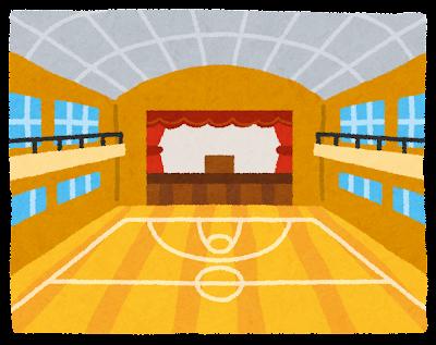 体育館の室内のイラスト