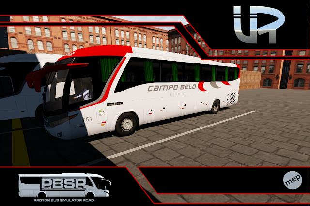 Skin Proton Bus Simulator Road - G7 1200 MB O-500 RS Viação Itapemirim
