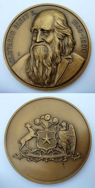 Medalla Clotario Blest ANEF