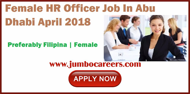 Latest Female HR Officer Jobs in Abu Dhabi April 2018