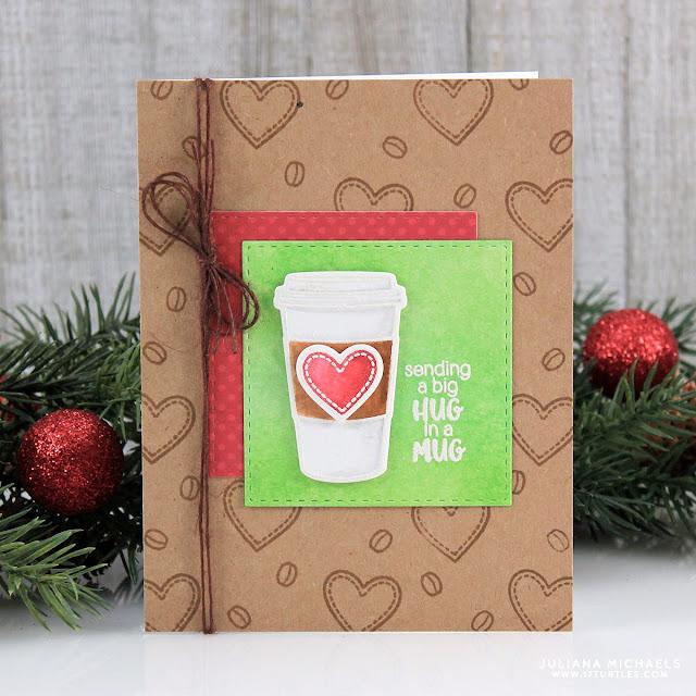 Sunny Studio Stamps: Mug Hugs Hug In A Mug Card by Juliana Michaels.