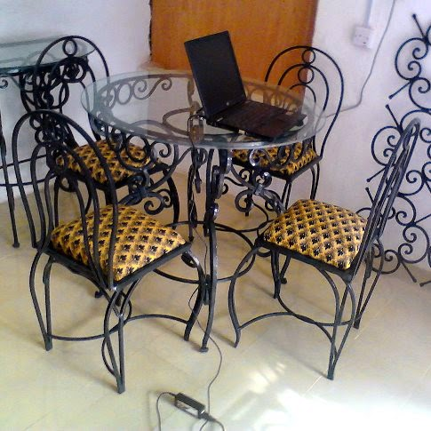 Wrought Iron Furniture,Dining Set in Port Harcourt, Nigeria