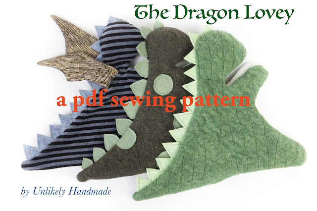 UNLIKELY: Dragon Lovey, a New Pattern by Unlikely Handmade