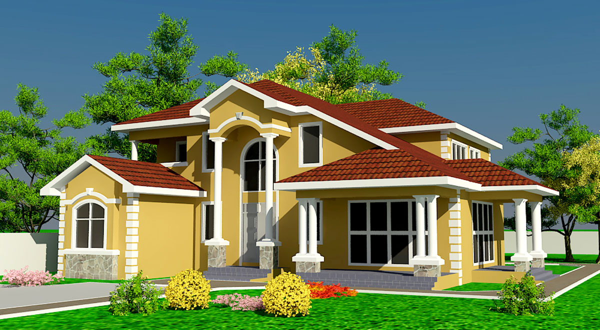 Fashion dress and a beautiful houses - Beautiful front designs of homes ...