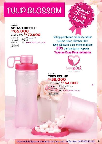 Special Price Oktober 2017, Tulip Blossom, Splash Bottle, Tres Round