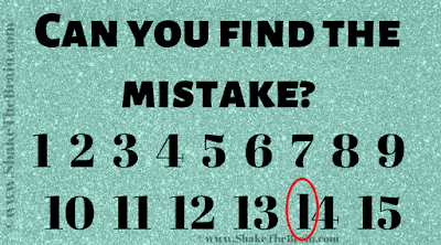 Answer of Challenging Mistake Finding Picture Puzzle