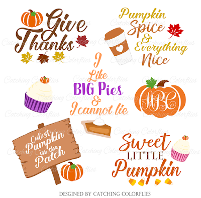 Fall Thanksgiving SVG cutting files for silhouette and cricut. Free cut files.