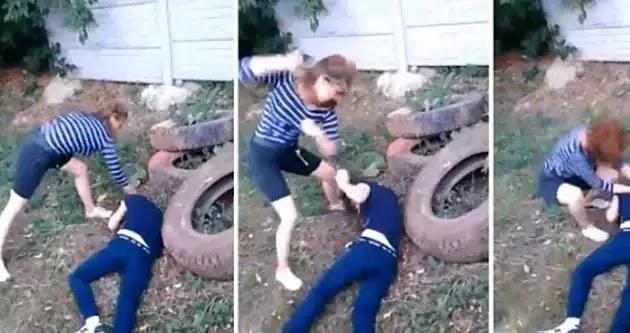 Φρίκη: Έφηβη χτυπάει συνομήλικη της και την αφήνει αναίσθητη (σκληρό βίντεο)