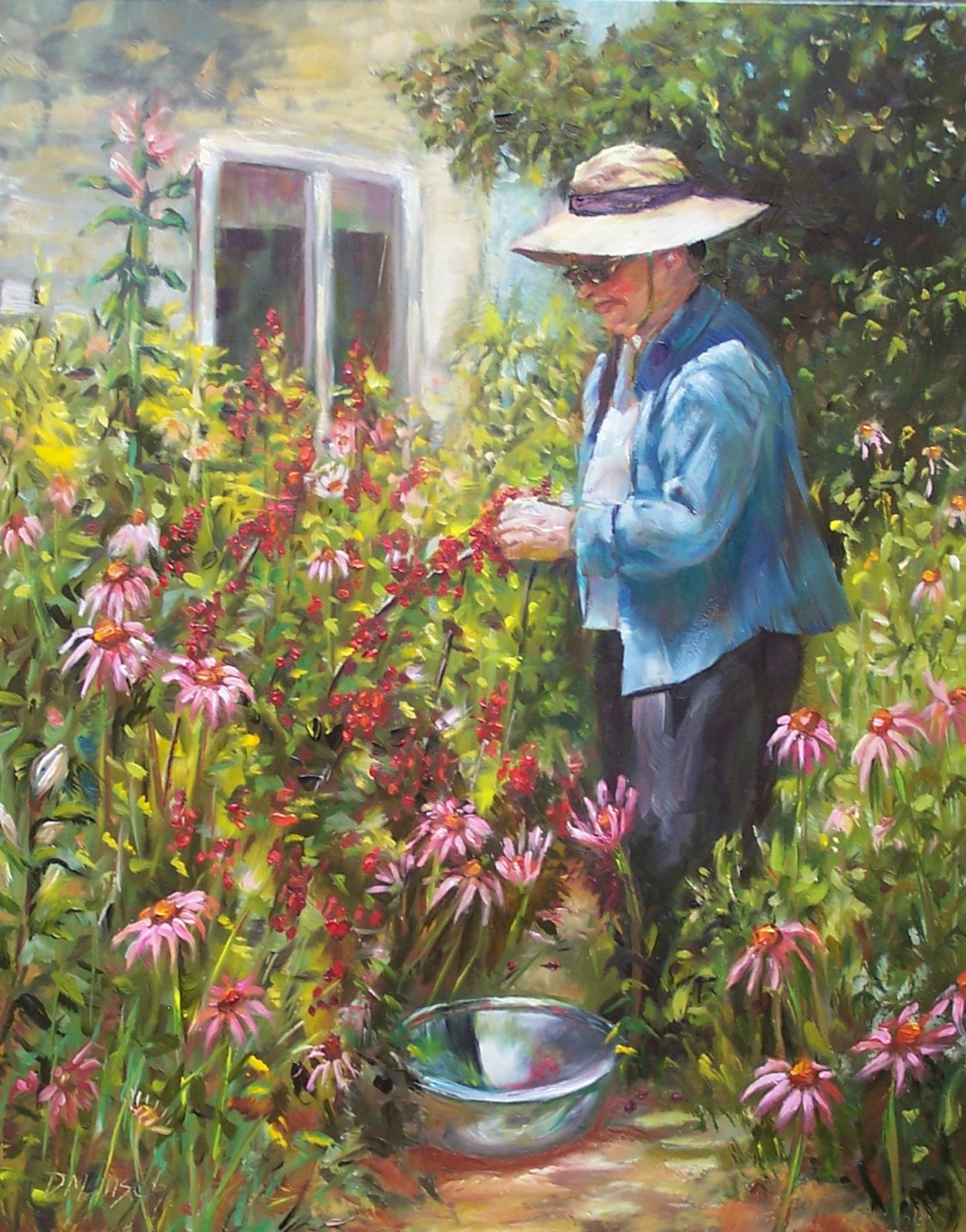original oil painting the gardener