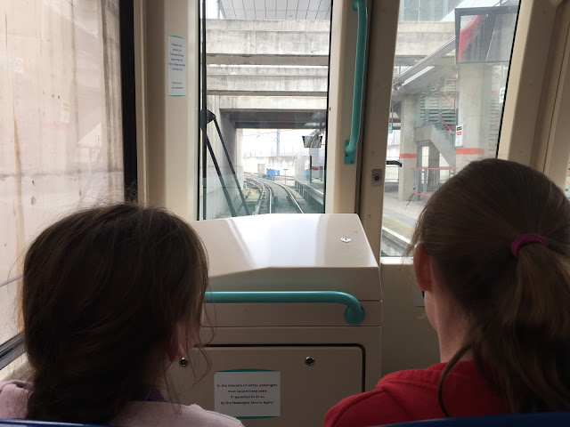 View from the front of the DLR
