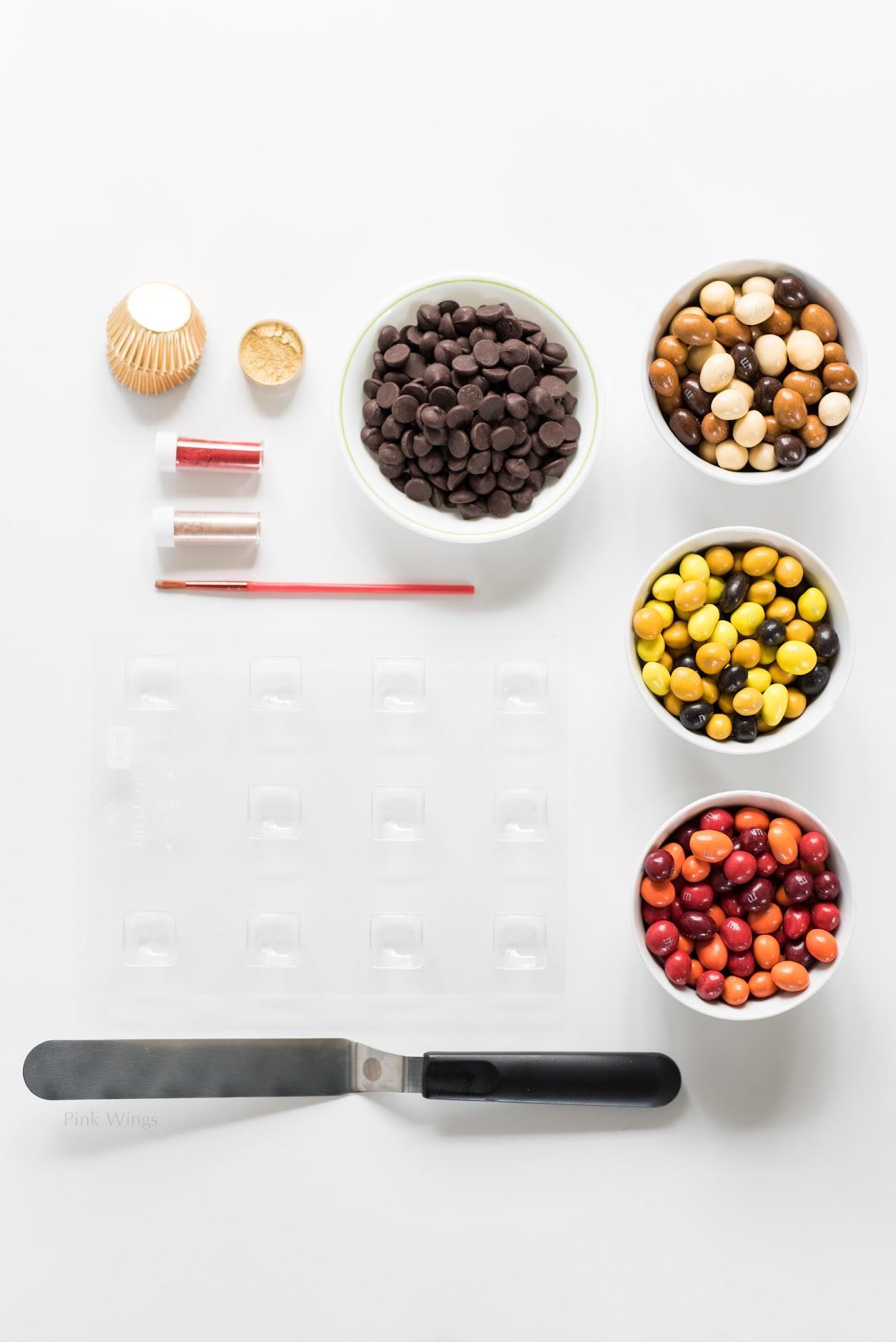 peanut chocolates, how to make chocolates at home, gourmet chocolates at home, chocolates with a mold, how to decorate chocolates